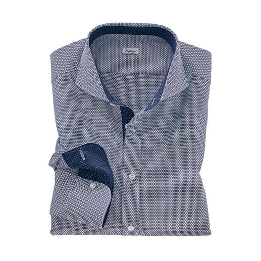 Ingram Jacquard Shirt with Tie Pattern An unusual three-dimensional design amongst the current trendy tie patterns.