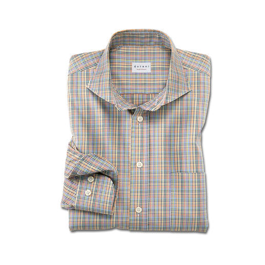 Dorani Twelve-Colour Checked Shirt Twelve shades – and unlimited combinations. A rare and versatile shirt with a stylish and exclusive pattern.