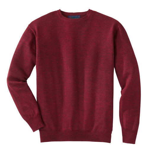Round-Neck, Bordeaux Heather