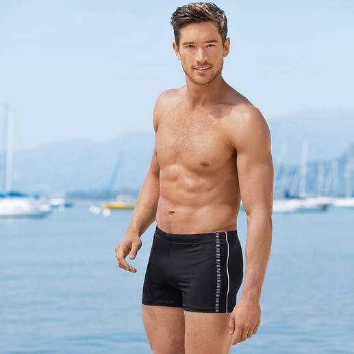 Slim Swimming Shorts Slim, stylish and quick-drying. Swimming shorts for the sporty gentleman.