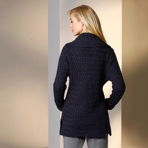 Ireland's Eye Shawl Collar Cardigan Irish through and through. A traditional family knitwear business since 1968. At a very affordable price.