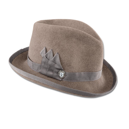 Ellen Paulssen Homburg The Homburg. Once the hat of famous men. Now with a contemporary twist for fashion-conscious women.