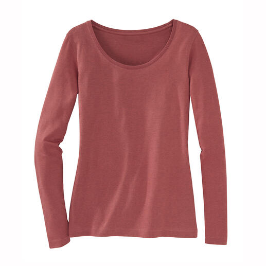 Alpaca Pima Shirt The perfectly simple warm winter top. A winning blend of Pima cotton and baby alpaca.