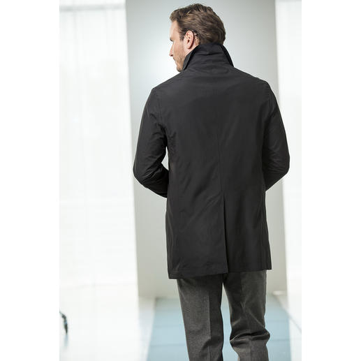 Waterville Car Coat The amazingly elegant car coat. Windproof. Rain resistant. Weighs less than 19 ounces.