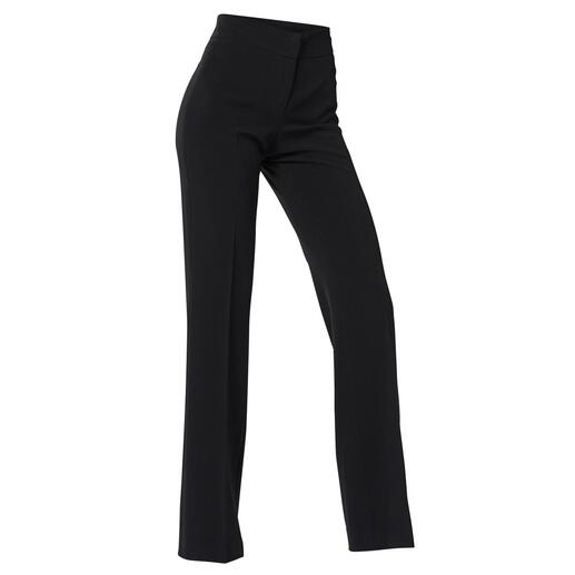 Fashionable business-friendly flared trousers. Fashionable business-friendly flared trousers. Adult cut. Fine fabric. Classic black.