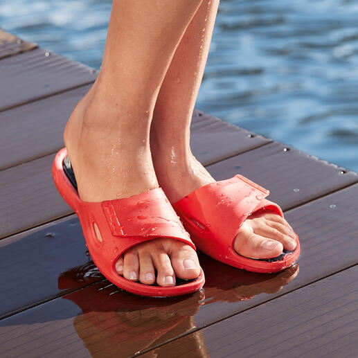 Fashy AquaFeel Ladies or Men's Pool Shoe Non-slip on wet surfaces. Antibacterial to combat athlete's foot.