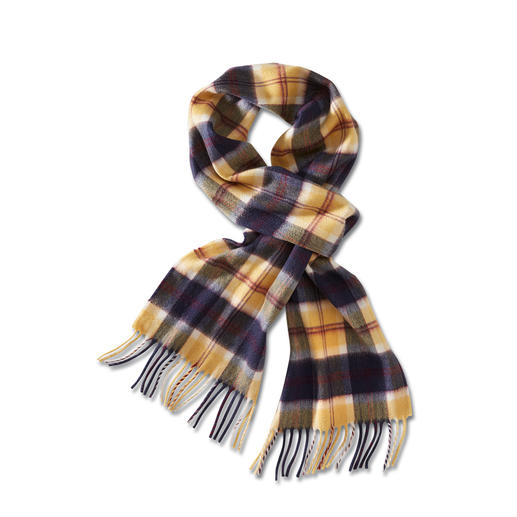 Lochcarron Cashmere Scarf Original design from the archives of one of the oldest tartan weavers.