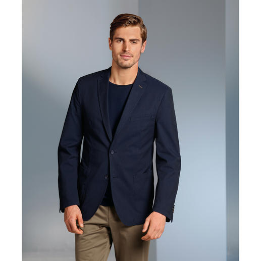 "Carl Gross ""Ceramica"" Cotton Blazer The ideal blazer for travelling, in machine washable cotton that barely creases."