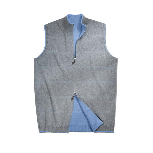 Alan Paine Reversible Knitted Waistcoat Casual today – classic tomorrow. Easy to mix and match.