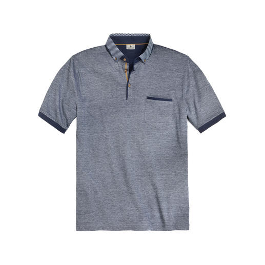 Maselli Gentleman's Polo Much more elegant than most polo shirts – and even suitable for jackets. Tailored collar.