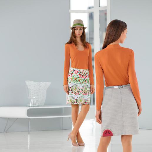 icke, Berlin Photo Print Melon Skirt A real show-stopper – melon skirt by icke, Berlin. Featuring a photo print in mini-series.