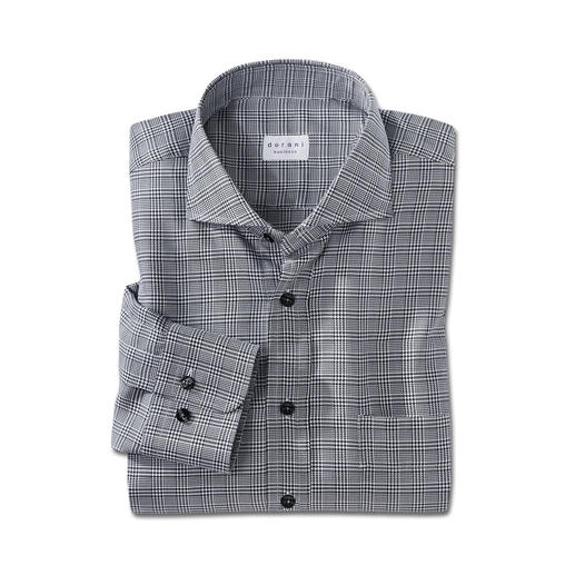 Dorani Glen Check Shirt Much more inspiring than a plain shirt, but just as versatile to combine. The Black and white glen check.