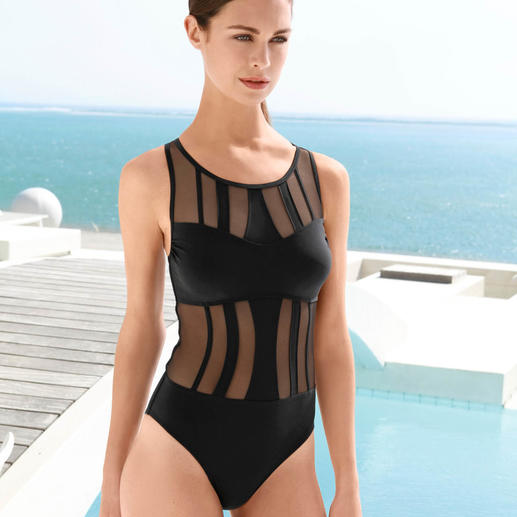 Opera Mesh Swimsuit Conceals and covers like a swimsuit. Seductive like a bikini
