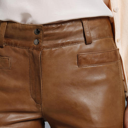 Vintage Lamb Nappa Leather Trousers Soft lambskin, exquisitely processed and finished by hand.