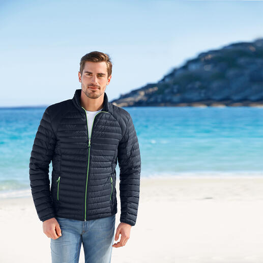Summer Down Jacket for Men Super light. Yet still soft and warm. The down jacket for summer.