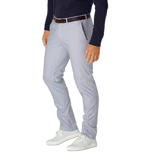 Brax Mille-Rayé Trousers Refined mille-rayé stripes make these cotton summer trousers stand out from the crowd.