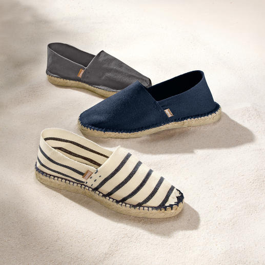 [espadrij] Women's or Men's Espadrilles When you opt for espadrilles, choose the original. Hand-sewn instead of mass-produced.