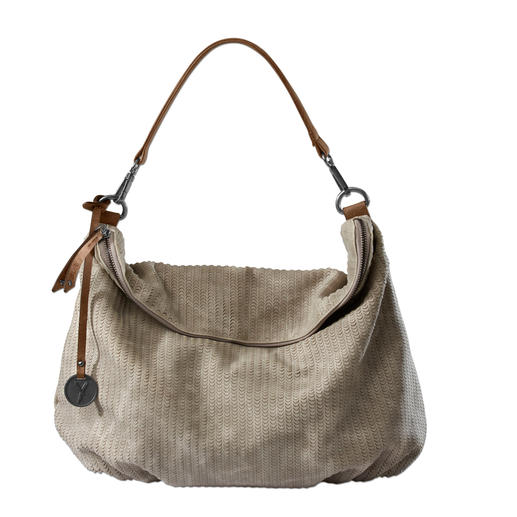 As elegant and fabulously soft as leather. As elegant and fabulously soft as leather. Fashionable hobo bag at a very reasonable price.