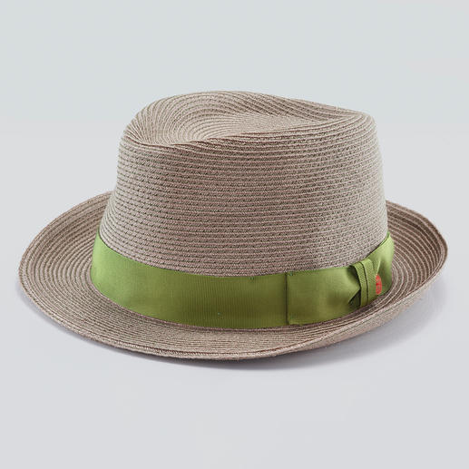 Mayser Hemp Trilby Virtually indestructible sun hat. Trendy trilby style, made of durable hemp fibres sewn together.