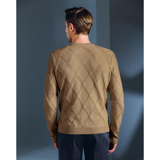 Textured Knit Summer Pullover Made from cotton, modal and cashmere in Germany. Exclusive to Fashion Classics.