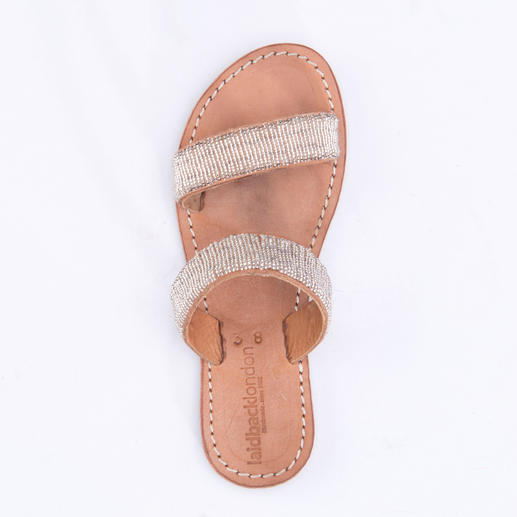 Laidback London Silver Beads Flats Traditional African handicraft: The shoe trend for the summer.