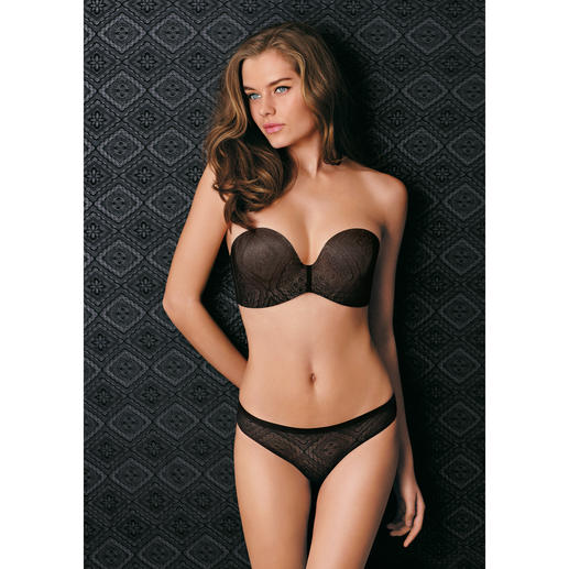 Wonderbra® Bandeau Lace Bra or Lace Briefs Strapless shaping bra.