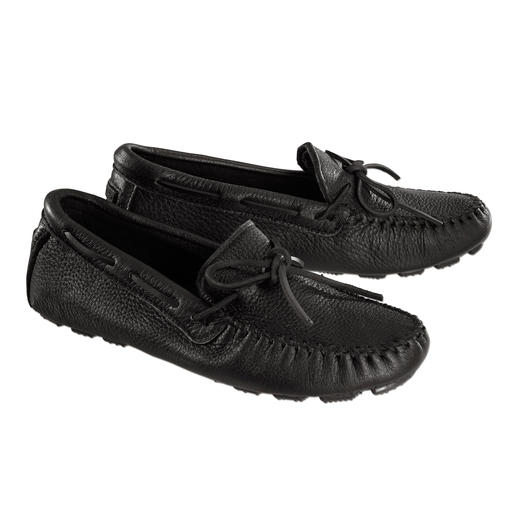 Minnetonka® Elk Leather Driving Moccasins Like walking on air. Original Minnetonka®: Designed like real moccasins, based on old Indian traditions.