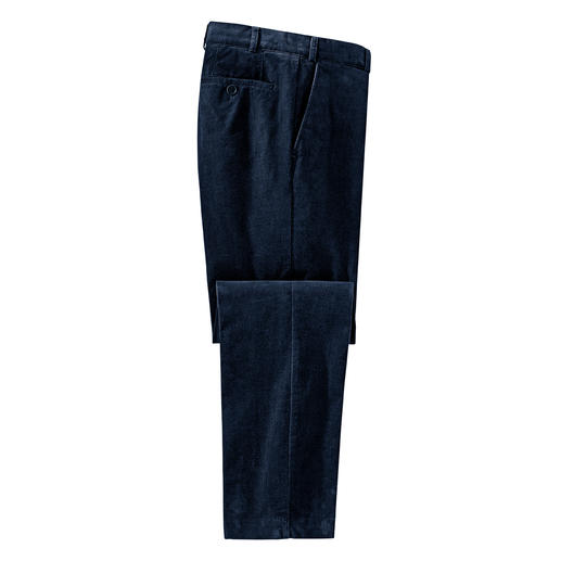 Hoal Elegant Fine Corduroy Trousers - 52 ridges per inch: Finer corduroy is really hard to find. As elegant as velvet. By Duca Visconti, Italy.