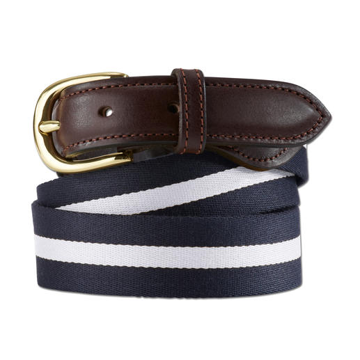 Smart Turnout Regimental Belt A truly smart lightweight summer belt. Authentic regimental stripes made in England.