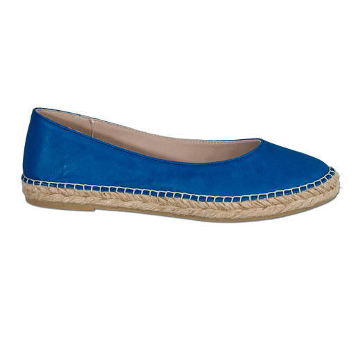 Macarena® Leather Espadrilles The casual look of espadrilles. But as durable as your favourite ballet flats. Soft nappa leather.