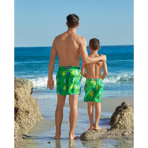 Vilebrequin Father and Son Swim Shorts There are ordinary swim shorts ... and there are these classics by Vilebrequin, St. Tropez.