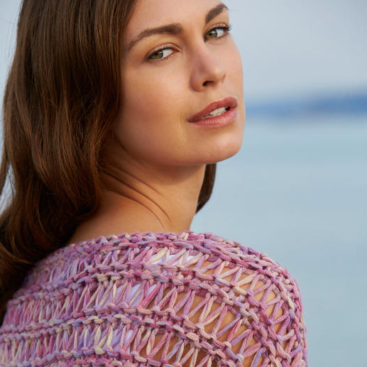 Kero Design Ribbon Yarn Pullover - Dyed and knitted by hand: Rare ribbon yarn made of baby alpaca and merino wool.