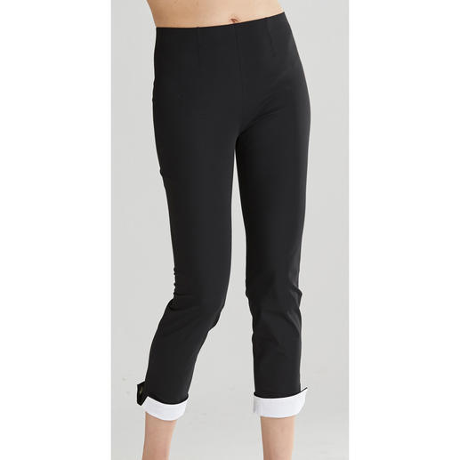 "Seductive Pull-On Trousers ""Sabrina"", Black/White A proven success for more than 8 years. And it's still a hot fashion trend."