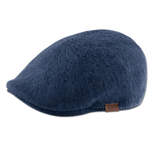 Kangol® Denim Flat Cap Fashionable slim fit. Airy knitwear. Casual denim look. The flat cap by British hat maker Kangol®, since 1938.