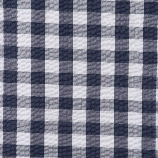 Ingram Checked Seersucker Shirt Airy, woven seersucker with classic check pattern. Yet not too informal looking.