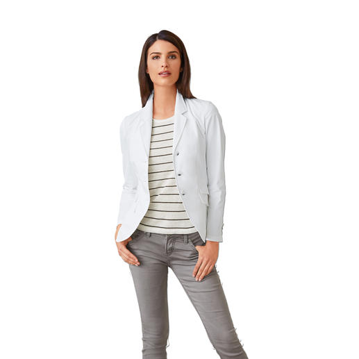 Washable White Blazer Just wash, dry and wear, and keep on combining.