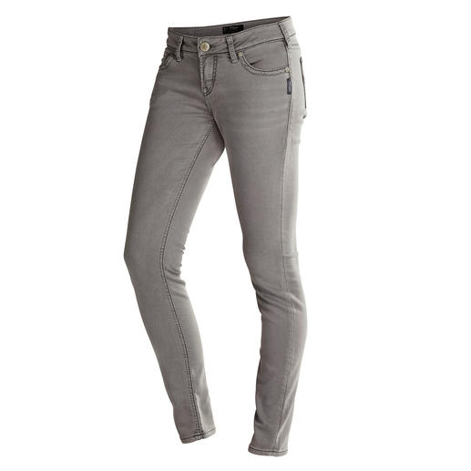 Silver® Joga-Jeans™, Grey Authentic jeans appearance, but with a yoga trousers feel.