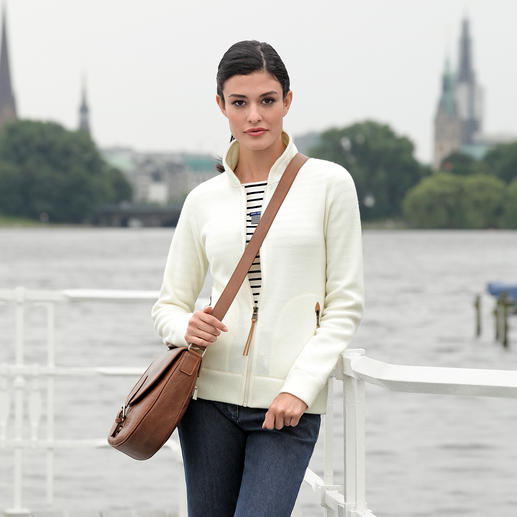 Aigle Thermotech® Cardigan A classic elegant knitted look on the outside and lightweight, soft, warm Thermotech® fleece on the inside.