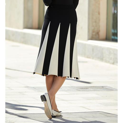 Twin-Set Knit Godet Skirt Comfortable flattering knitted skirt with godet pleats.