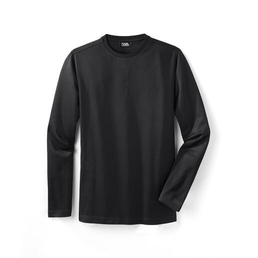 Lagerfeld Long-Sleeve Basic Finely shimmering, minimalistic and slimline: Lagerfeld's long-sleeve shirt made from mercerised cotton.