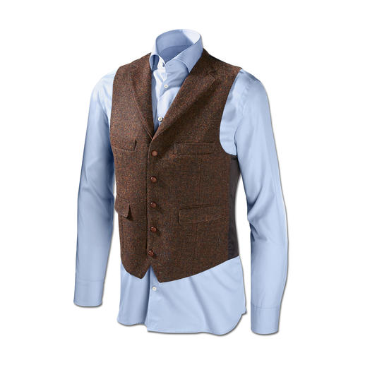 Carl Gross Tweed Jacket or Waistcoat Original Harris Tweed from the Outer Hebrides – yet so much finer and lighter than usual.