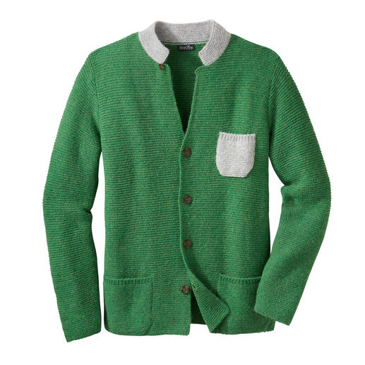 Royal Alpaca Knitted Jacket Precious royal alpaca. Rare fashion. Boxy shape. Robust purl knit. Fresh colours. By Clark Ross.