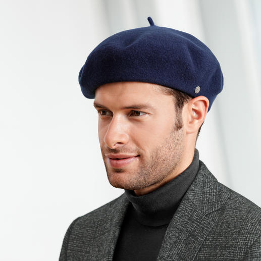 Laulhère Beret, Men - Laulhère makes the only true 100% French beret. Handcrafted from pure merino wool.