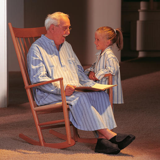 Grandpa Nightshirt Snuggle up in nostalgic comfort that's super soft and warm. Made from prized brushed cotton flannel.