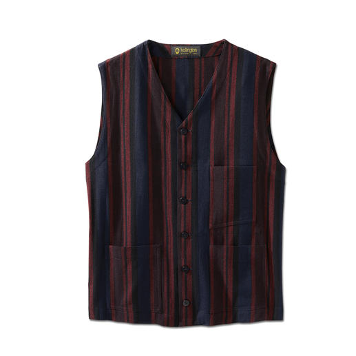 Hollington Striped Waistcoat The genuine Patric Hollington waistcoat. Indestructible design.
