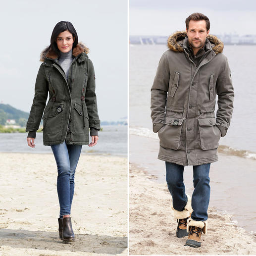 Sailors & Brides  All-Weather Parka for Women or Men Finally a cotton parka that is as wind and waterproof as a multifunction jacket.