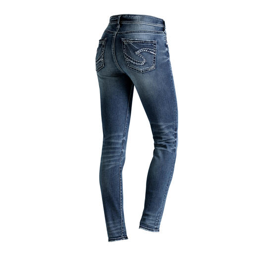 "Silver Skinny-Jeans ""Suki"" Original Silver Jeans from Canada: Perfect fit. Distinctive style."