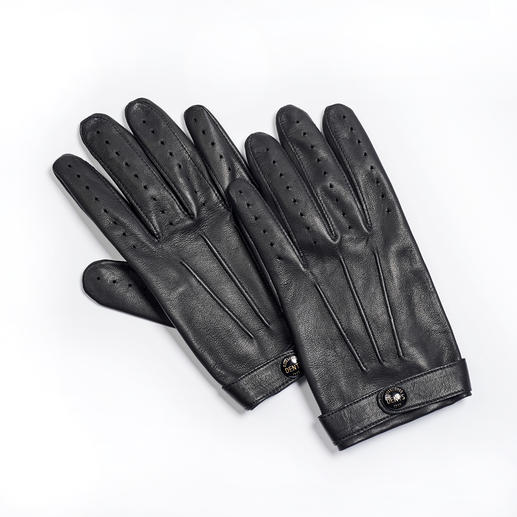 Dents Gentleman Gloves A gentleman can be recognised by his gloves by Dents. The finest leather gloves from Great Britain, since 1777