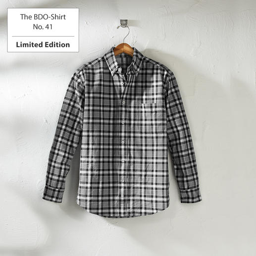 The BDO-Shirt No. 41, checked Meet a good old friend. And forget that shirts always need ironing.