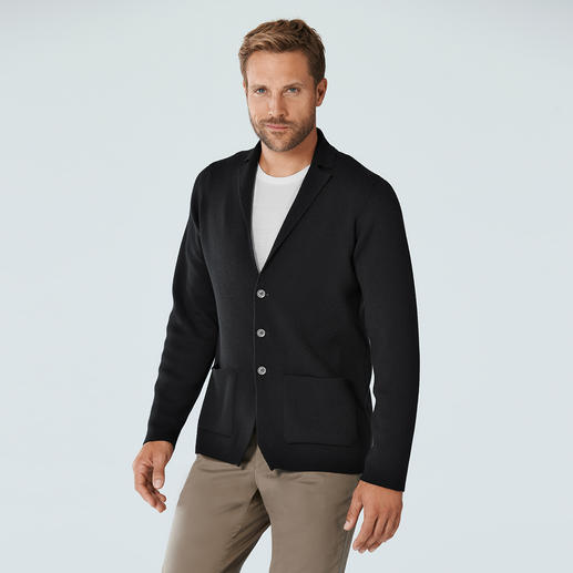 John Smedley 24-Gauge Knitted Blazer 24 gauge merino fine knit: Much more luxurious and elegant than most knitted blazers.